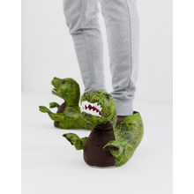 Loungeables – T-Rex – Hausschuhe-Grün