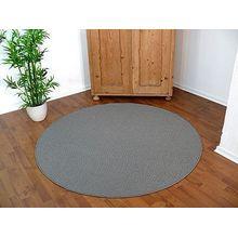 Sisal Natur Teppich Dekowe Grau Rund in 7 Größen, Größe:133 cm Rund