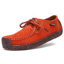 Oriskey Damen Mokassin Bootsschuhe Wildleder Loafers Schuhe Flache Fahren Halbschuhe Slippers 40