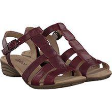 Gabor Damen Sandaletten - Rot Schuhe in Übergrößen, Größe:44