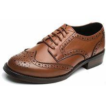 Brogue Bequem Business&Schn;ürhalbschuhe Leder Klassiker Perforierte Wingtip OxfordsBraun41