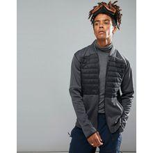 O'Neill - Activewear Kinetic - Gesteppte Sweatjacke in Schwarz/Grau - Schwarz