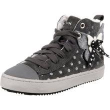 GEOX Sneaker dunkelgrau / silber