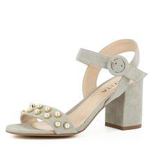 EVITA Damen Sandalette SAMANTA Klassische Sandaletten grau/beige Damen
