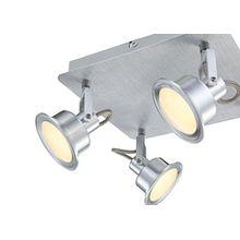 Globo Zeitlose LED Deckenleuchte Aluminium Glas satiniert 5W LINDSEY 56954-4