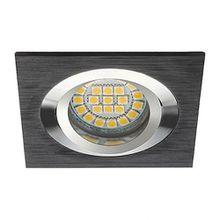 Deckeneinbaurahmen gebürstetes Aluminium Schwarz GU5.3 / GU10 wählbar