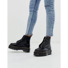 Dr Martens - Sinclair - Stiefel aus schwarzem Leder mit Reißverschluss und flacher, dicker Plateausohle - Schwarz