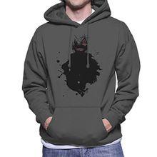 Kaneki Paint Splatter Tokyo Ghoul Men's Hooded Sweatshirt