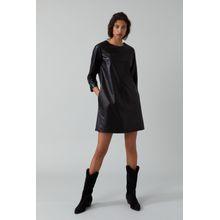 CLOSED Kleid aus Lammleder black