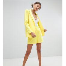 Missguided - Exklusive Shorts mit hohem Bund - Gelb