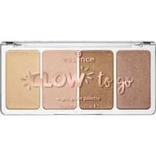 Essence Teint Highlighter Glow To Go Highlighter Palette Nr. 10 Sunkissed Glow 14 g