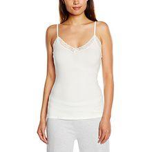 Skiny Damen Unterhemden Soft Harmony Spaghettishirt, Mehrfarbig, Gr. 42, Elfenbein (IVORY 7608)