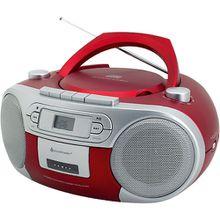 CD Player mit Radio und Kassettenspieler, rot
