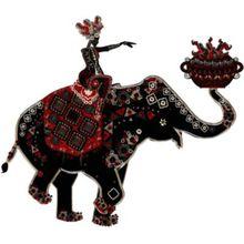 "Wandtattoo ""Elephant"" 103x90 cm bunt"