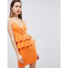 Ivyrevel - Mini-Trägerkleid mit doppeltem Schößchen und Rüschen - Orange