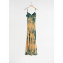 Tie Dye Midi Slip Dress - Yellow