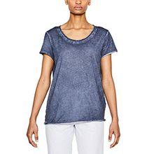 ESPRIT Damen T-Shirt 047EE1K023, Blau (Ink 415), 38 (Herstellergröße: M)