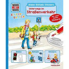 Buch - WAS IST WAS Kindergarten: Malen, Rätseln, Stickern - Unterwegs im Straßenverkehr