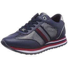 Tommy Hilfiger Damen Tommy Corporate Flag Sneaker, Blau (Tommy Navy 406), 39 EU
