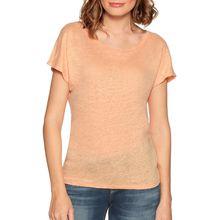Benetton T-Shirt in orange für Damen