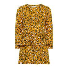 NAME IT Kleid gold / schwarz / weiß