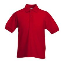 Fruite of the Loom Kinder Polo-Shirt, vers. Farben 140,Rot