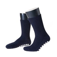 NORDPOL ABS Stoppersocken für Kinder aus Schurwolle, 1 Paar, marine, Made in Germany, Gr. 19-22