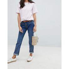 Mih Jeans Zip - Jeans mit Reißverschluss und hohem Bund - Blau