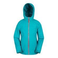 Mountain Warehouse Torrent Wasserfeste Jacke für Kinder - Regenmantel mit versiegelten Nähten, Kinderjacke mit Taschen, Sommermantel - Ideal für Sommerreisen Blaugrün 140 (9-10 Jahre)