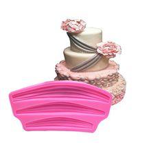 Fondant Form zum Backen, aixin Spitze Fondant Mermaid Silikon Form Drei Retro Satinband um den Rand der Vorhang Kuchen Werkzeug Kuchen Form Dekorieren