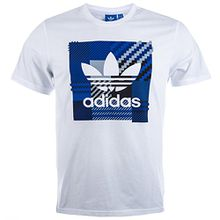 Adidas T-Shirt Men IMPO Check AZ1029 Weiß, Größe:S