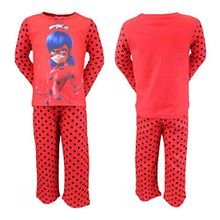 Miraculous LadyBug Mädchen Schlafanzug Rot rot 3 Jahre