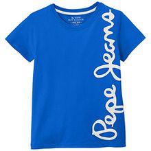 Pepe Jeans Jungen T-Shirt Waldo Short, Blau (French Blue), 16 Jahre (Herstellergröße: 16)
