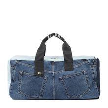 Blå Konst Tasche aus Denim