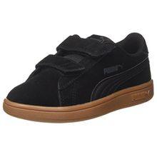 Puma Unisex-Kinder Smash v2 SD V PS Sneaker, Schwarz Black-Asphalt, 32 EU