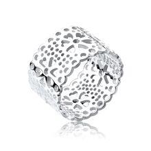 Elli Ring Blume Ornament Cut Out 925 Silber Ringe silber Damen