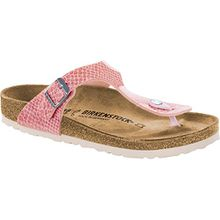 BIRKENSTOCK Gizeh Damen Zehensteg Sandalen Magic Snake Rose, EU 37