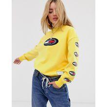 Tommy Jeans - Summer Heritage - Sweatshirt mit ovalem Logo - Gelb