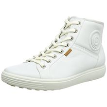 Ecco Soft 7, Damen Hohe Sneakers, Weiß (WHITE01007), 35 EU (3 Damen UK)
