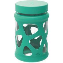 LEONARDO Glas Speisegefäß mit Silikonmantel, 760 ml grün