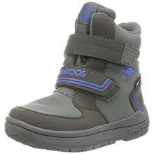 KangaROOS Unisex-Kinder Kamlo Schneestiefel, Grau (Dk Grey/Royal Blue 245), 33 EU