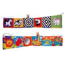 zhuotop 1Infant Kid Baby Kinderbett Galerie Tuch Buch Bright Farben Funny fördern Baby Exploration