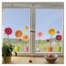 Fenster Sticker Gerberas, 20-tlg. mehrfarbig
