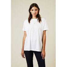 Stella McCartney T-Shirt mit Stern-Stickerei Weiß - 100% Baumwolle
