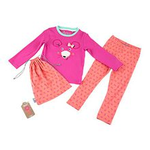 Sigikid Mädchen Zweiteiliger Schlafanzug Pyjama, Mini, Rosa (Shocking Pink 682), 110