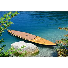 SUP Race Board VIAMARE 380 Wood braun