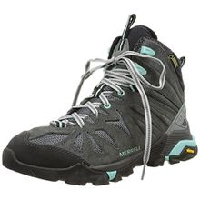Merrell Capra Mid GTX, Damen Trekking- & Wanderstiefel, Grau (Granite), 39 EU