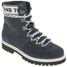 Tommy Jeans Schnürboots - TOMMY JEANS CANVAS SUEDE navyblau