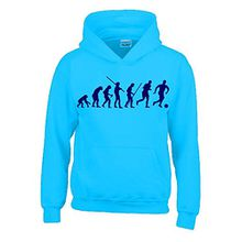 FUSSBALL Evolution Kinder Sweatshirt mit Kapuze HOODIE sky-navy, Gr.164cm