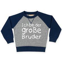 Kinder Gegensatz Navy & Grau Sweatshirt92-98'ICH BIN DER GROßE BRUDER'